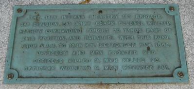 The 14th Indiana Infantry Marker image. Click for full size.