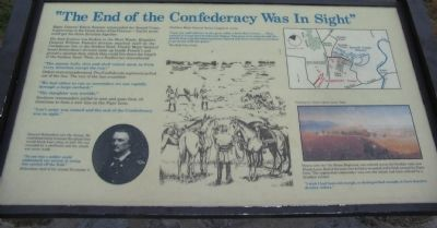"""The End of the Confederacy Was In Sight"" Marker image. Click for full size."