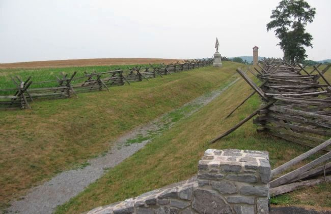 The Sunken Road or Bloody Lane image. Click for full size.