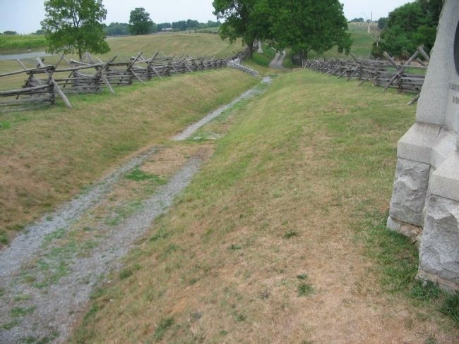 The Sunken Road Seen from the Base of the Monument image. Click for full size.