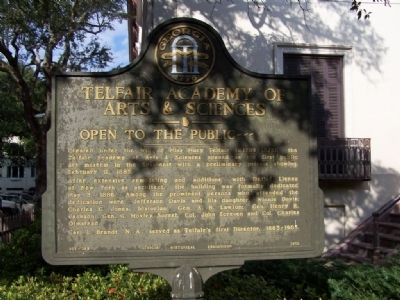 Telfair Academy of Arts & Sciences Marker Photo, Click for full size