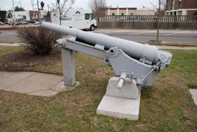 "Left Profile of Cannon at Front of ""Doughboy"" Park image. Click for full size."