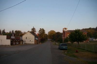 View west on Main Street from the marker image. Click for full size.