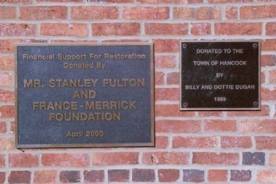 Plaques on the side of the toll house image. Click for full size.
