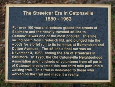 The Streetcar Era in Catonsville image. Click for full size.