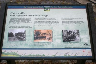 Catonsville: From Stagecoaches to Horseless Carriages image. Click for full size.
