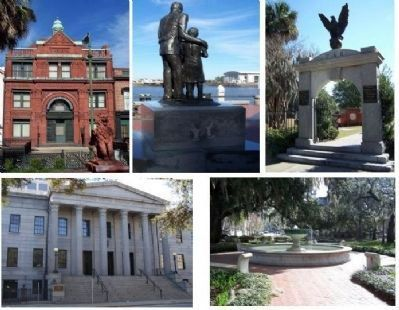 Historic Icons in Old Savannah image. Click for full size.