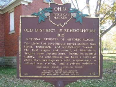 Old District 10 Schoolhouse Marker image. Click for full size.