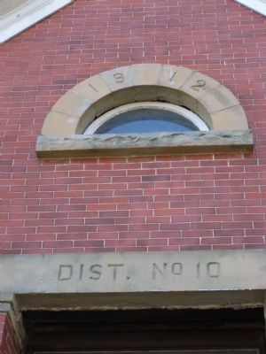 Old District 10 Schoolhouse - closeup image. Click for full size.