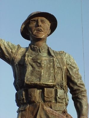 Spirit of the American Doughboy (front detail) image. Click for full size.