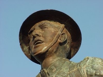 Spirit of the American Doughboy (face detail) image. Click for full size.