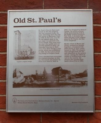 Old St. Pauls Marker Photo, Click for full size