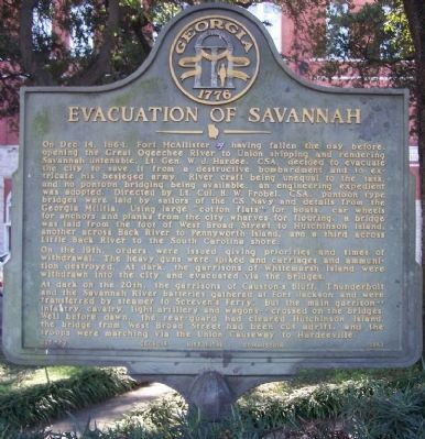 Evacuation of Savannah Marker image. Click for full size.