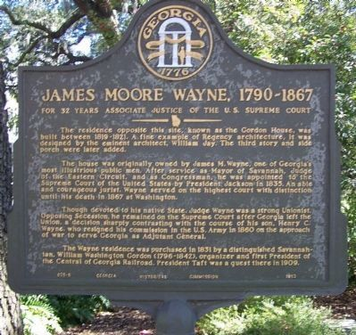 James Moore Wayne, 1790-1867 Marker image. Click for full size.