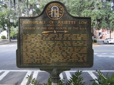 Birthplace of Juliette Low (1860-1927) Marker image. Click for full size.