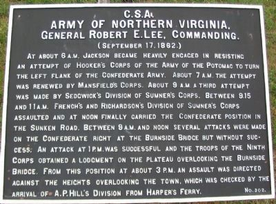 Army of Northern Virginia Marker Photo, Click for full size