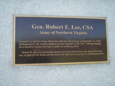 Gen. Robert E. Lee marker image. Click for full size.