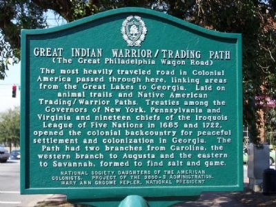 Great Indian Warrior / Trading Path (The Great Philadelphia Wagon Road) Marker image. Click for full size.