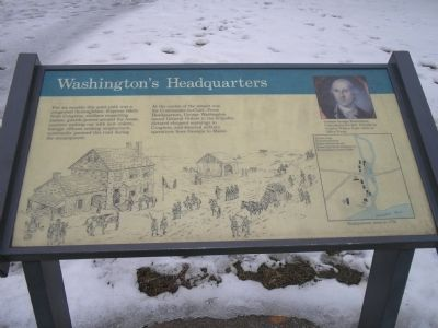 Washington's Headquarters marker image. Click for full size.