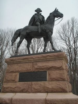 Gen. Anthony Wayne equestrian statue image. Click for full size.