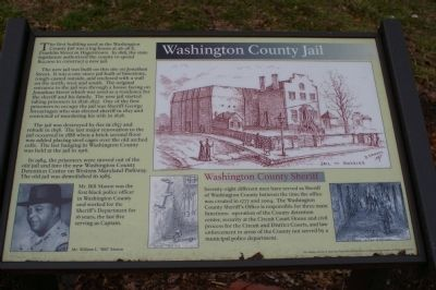 Washington County Jail Marker image. Click for full size.