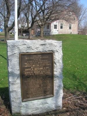 Van Schaick marker with Mansion in Background Photo, Click for full size