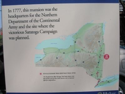 Interpretive Sign Located behind the Van Schaick Mansion Photo, Click for full size