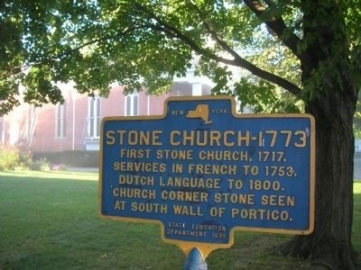 Stone Church-1773 Marker image. Click for full size.
