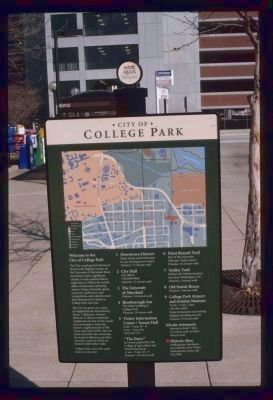 College Park Marker image. Click for full size.