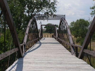 Old Army Bridge Over the Platte River Marker image. Click for full size.