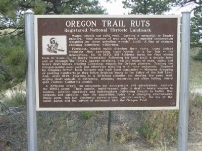 Oregon Trail Ruts Marker Photo, Click for full size
