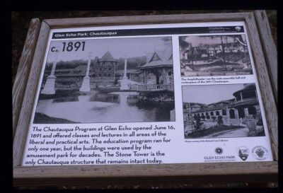 Marker Describing 1891 Chautaugua image. Click for full size.