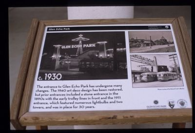 Glen Echo Park marker Photo, Click for full size