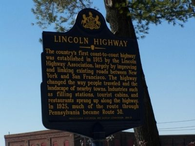 Lincoln Highway Marker image. Click for full size.