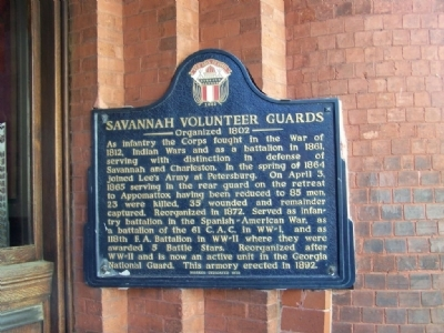 Savannah Volunteer Guards Marker Photo, Click for full size