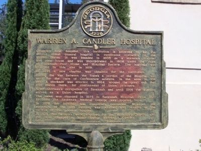 Warren A. Candler Hospital Marker Photo, Click for full size
