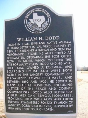 William H. Dodd Marker image. Click for full size.