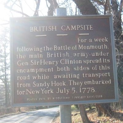 British Campsite Marker image. Click for full size.