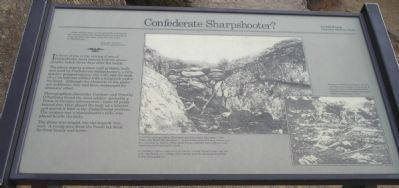 Confederate Sharpshooter Marker in Devil's Den. Photo, Click for full size