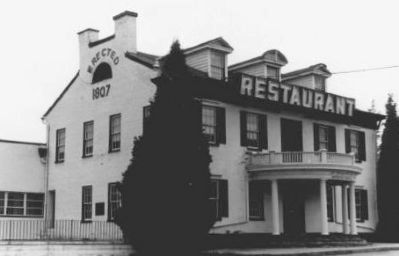 The Clarysville Inn, in the 1970s Photo, Click for full size