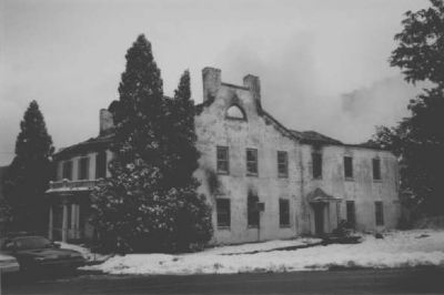 The Clarysville Inn after the fire of March 10, 1999 Photo, Click for full size