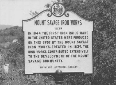 Mount Savage Iron Works Marker image. Click for full size.