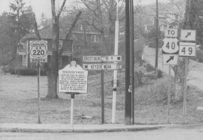 Braddock's Road Marker Photo, Click for full size