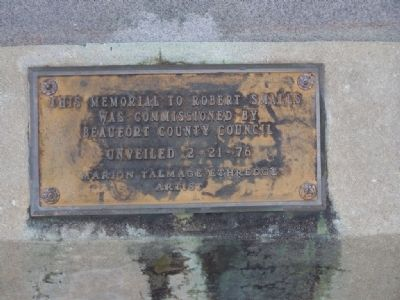 ROBERT SMALLS Marker...32 years ago this day image. Click for full size.