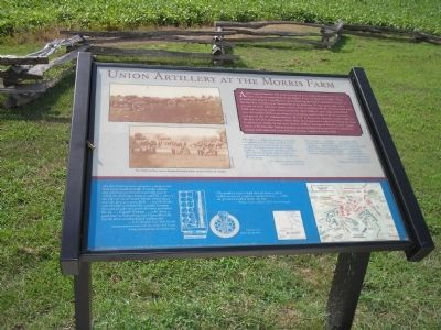 Union Artillery at the Morris Farm Marker image. Click for full size.