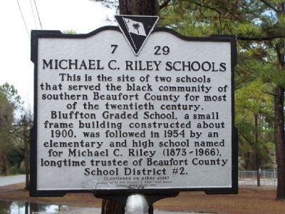 Michael C. Riley Schools Marker...Front image. Click for full size.