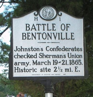 Battle of Bentonville Marker image. Click for full size.