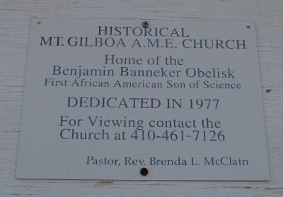 Sign on church Photo, Click for full size