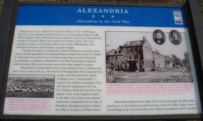 Alexandria in the Civil War Marker Photo, Click for full size