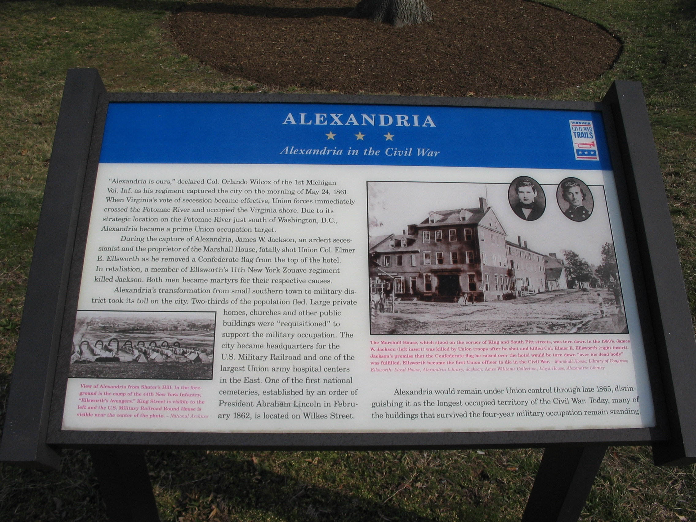Alexandria in the Civil War Marker